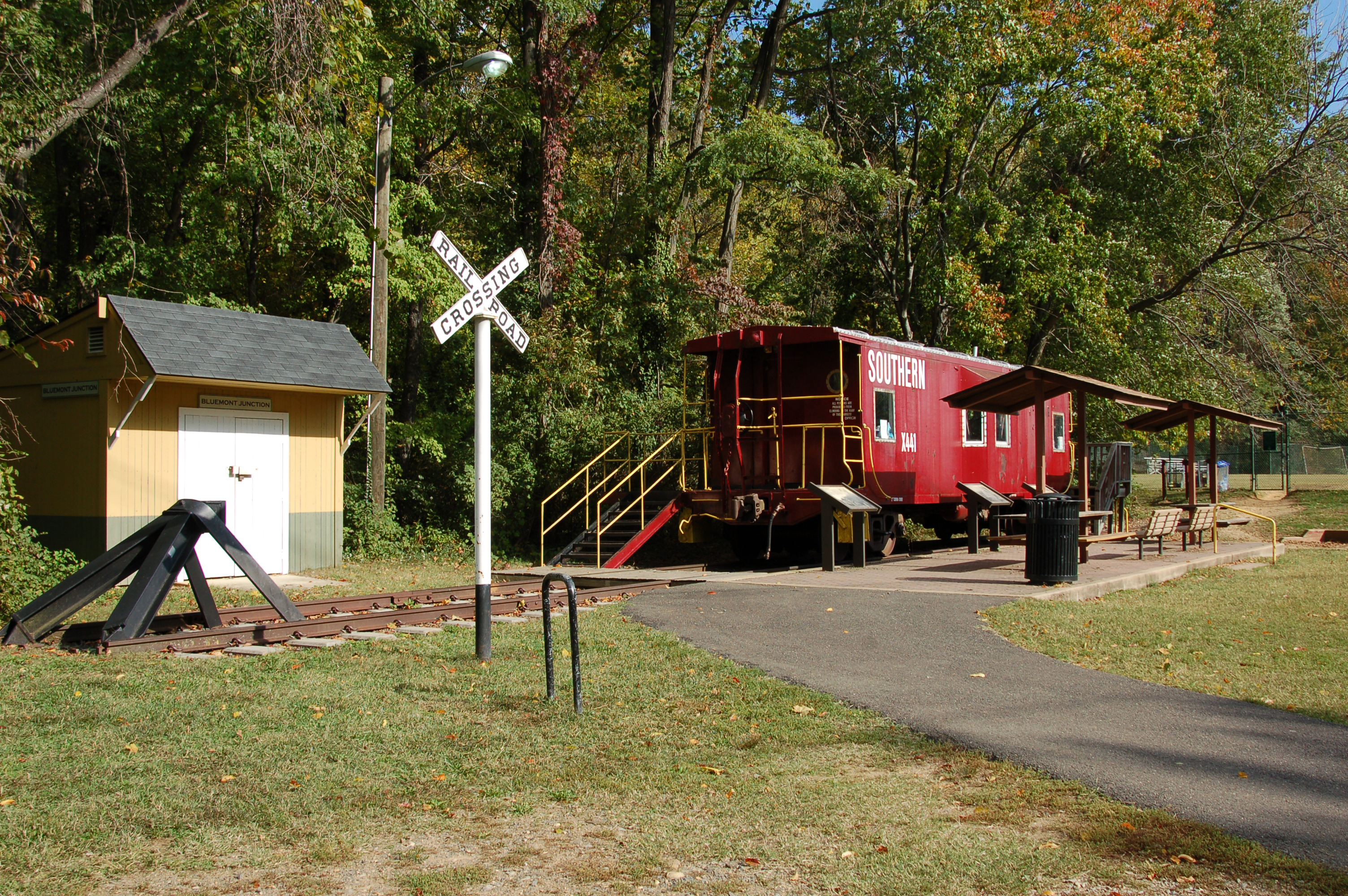45 - Visit an old Southern Railway Caboose at Bluemont Junction
