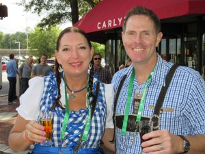oktoberfest gingham couple
