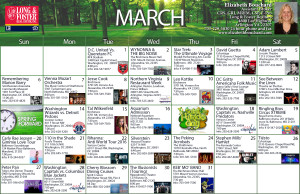 March Calendar of Area Events